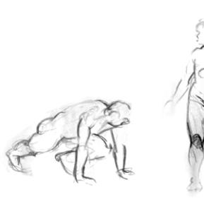 Figure Gestures - Charcoal/Conte., 2005