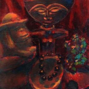 Still Life Under Red Light - Acrylic, 2006